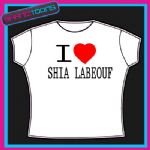 I LOVE HEART SHIA LABEOUF TSHIRT